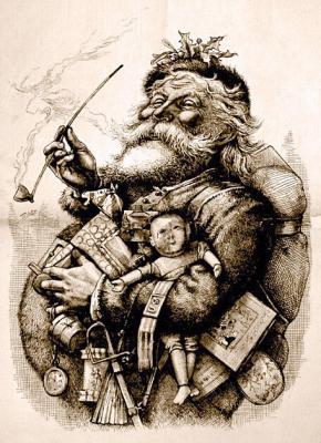 Merry Old Santa Claus, by Thomas Nast, 1881